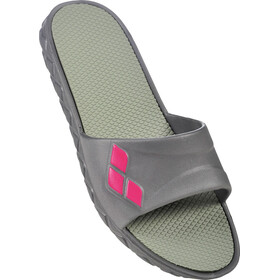 arena Watergrip Pool Sandals Women dark grey-fuchsia